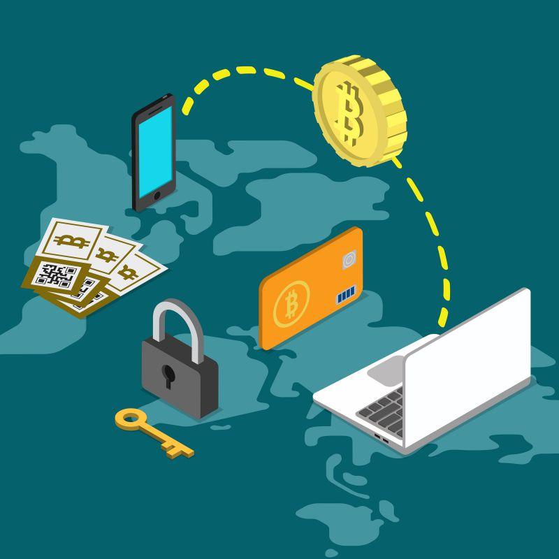 fintechs o que são transações ilustração de blockchain