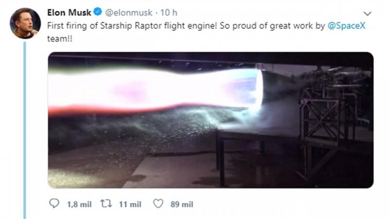 Clique na imagem e assista ao vídeo da ignição do foguete.