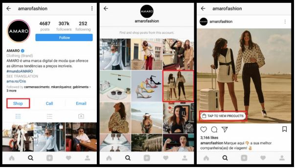 imagem 3 - instagram shopping post shopping explorer