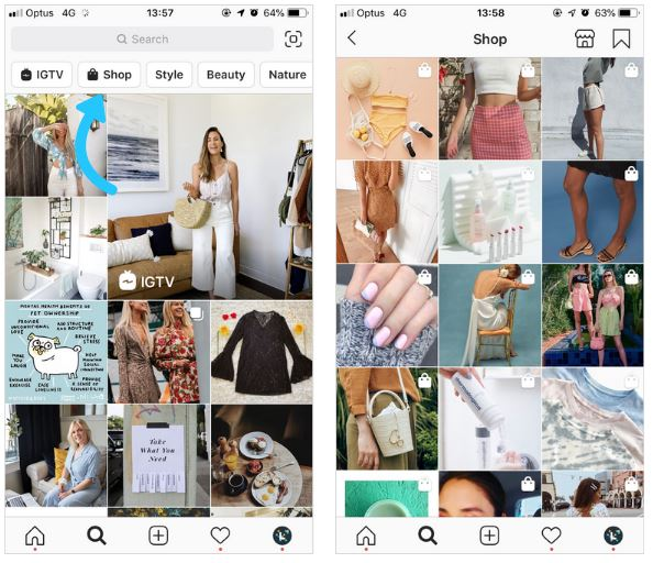 imagem 5 - instagram shopping post shopping explorer